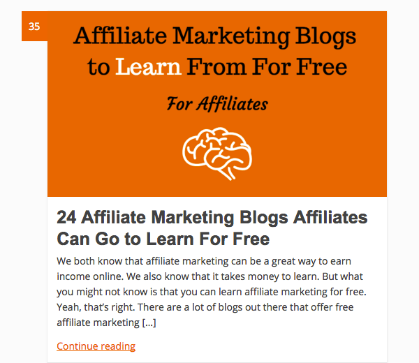 AffiliMarketer's boost traffic data