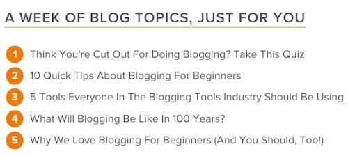 HubSpotBlog Topic Generator