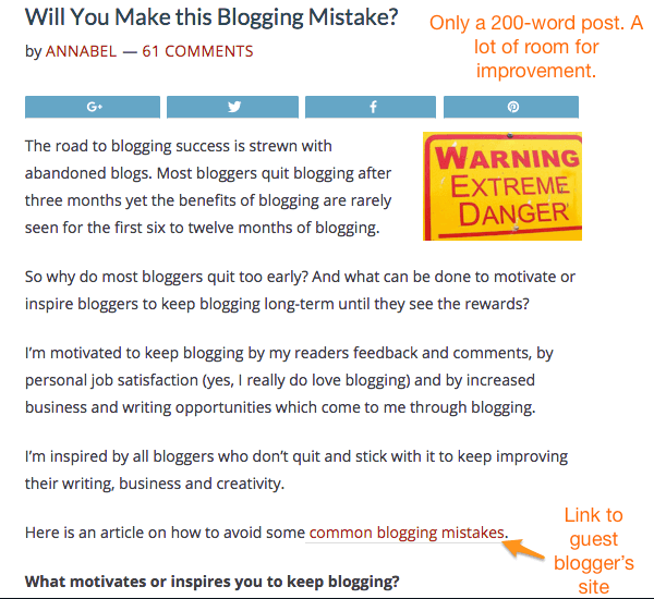 SuccessfulBlogging blog post