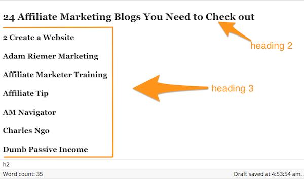 blog post outline