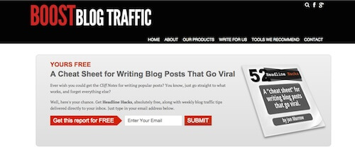 Boost Blog Traffic's feature box