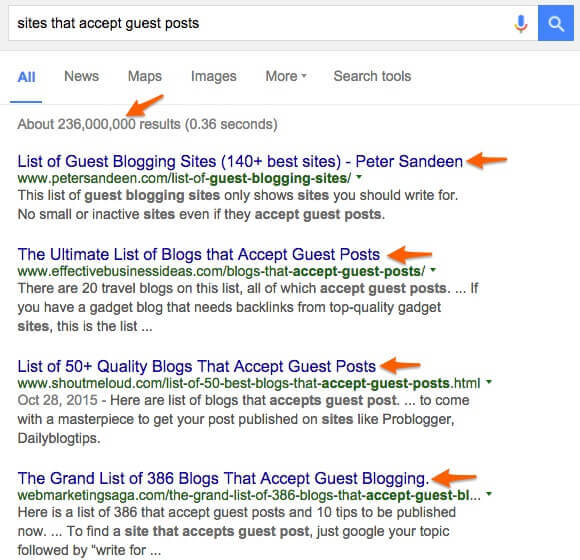 guest post search
