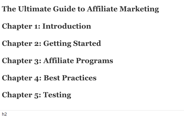 blog guide outline