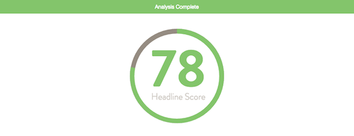 Headline Analyzer Score