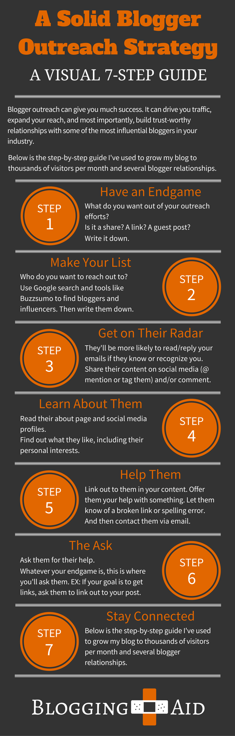 Blogger Outreach Strategy Infographic