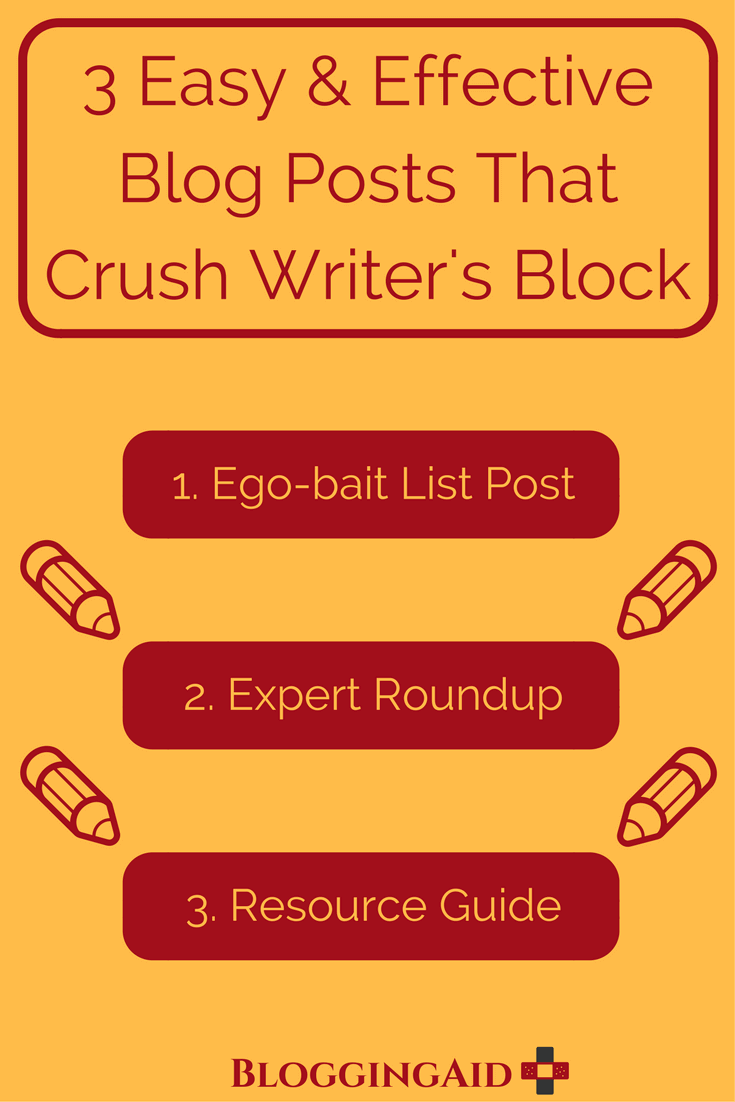3 Easy and Effective Blog Post Ideas That Crush Writer's Block