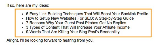 guest post pitch ideas/headlines