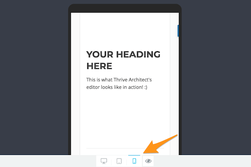 Thrive Architect Mobile Preview