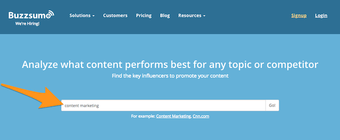 BuzzSumo Search 1