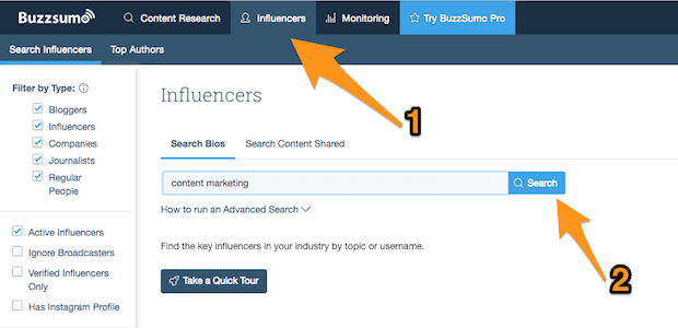BuzzSumo Search 2